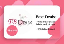 Tbdress Discount Code Offers