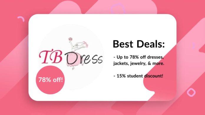 Tbdress Discount Code Offers