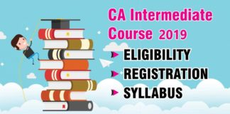 CA Intermediate Syllabus for Nov 2019 Exam