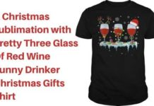Red Wine Funny Drinker Christmas Gifts Shirt
