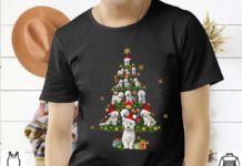 Bichon Frise Tree Christmas Santa Hat Shirt