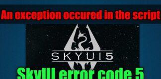 Fix Skyui Error Code 5