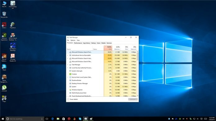 High CPU Usage On Windows 10