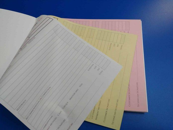 Custom Carbonless Invoices